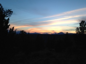 Sunset 2/12/15 from the top of the Scout Camp Trail, CRR Oregon